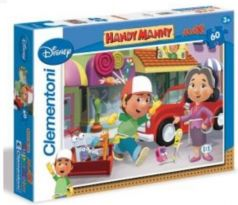 Puzzle Maxi Handy Manny 60 dielikov - Clementoni